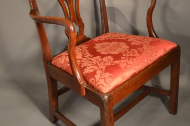Mahogany Chippendale Armchair, Circa 1760