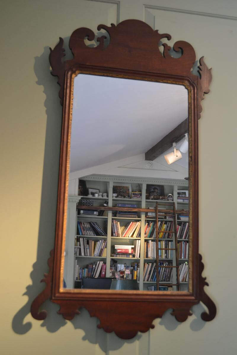 18th Century Mahogany  Chippendale Looking Glass