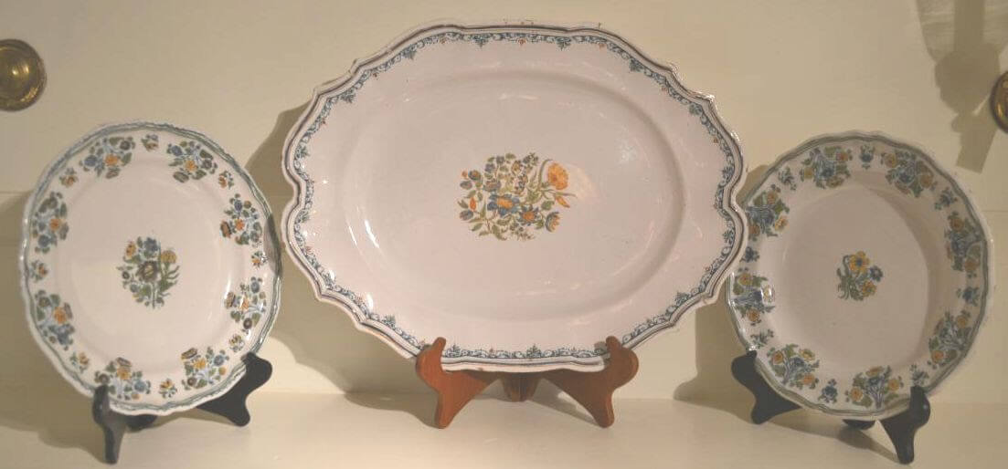 Moustiers Region French 18th Century Faience with Floral Decoration