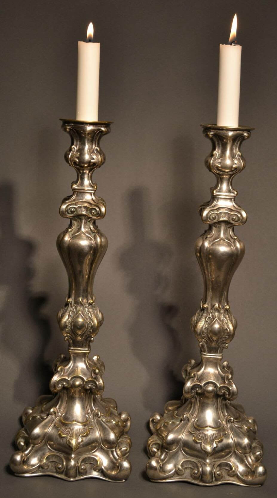 ContinentalSilver Plated Candle Sticks
