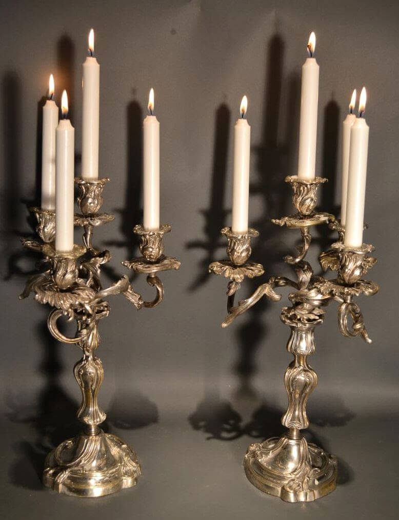 Old RococoFrench Louis XV Style Candelabra