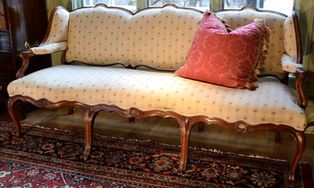 """Louis XVI Stained Beech """"Fruitwood"""" Settee, 18th Century"""