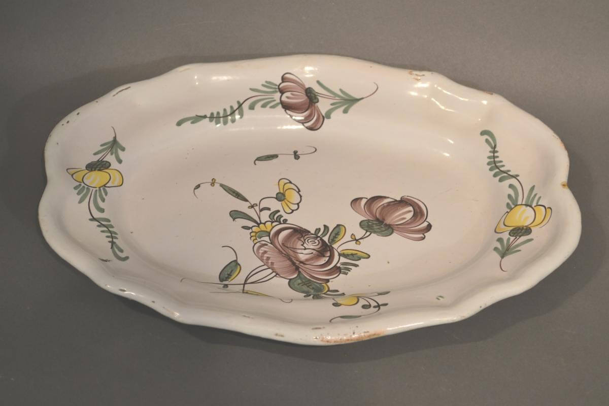 French Faience Oval Platter