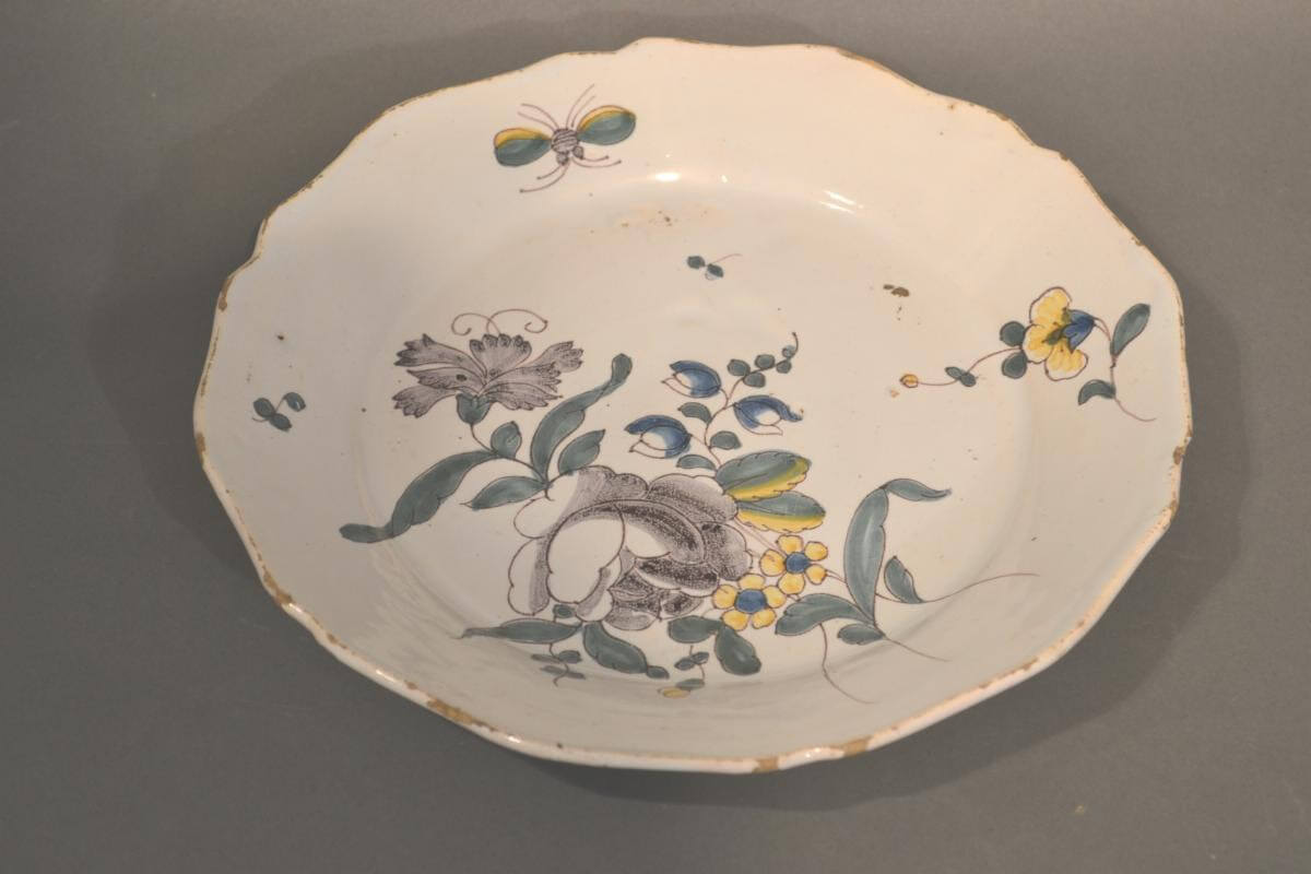 French Faience Round Plate