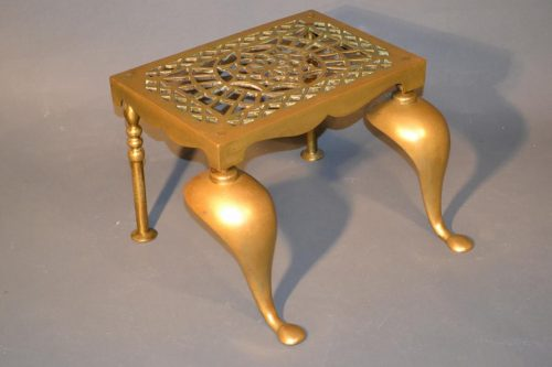 English Brass Trivet, Early to Mid 19th Century
