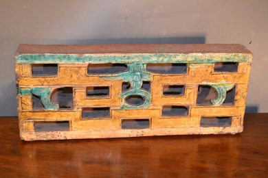 Chinese 19th century wall screen brick