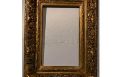 17/18th Century French Carved, Gilt Baroque Period Frame