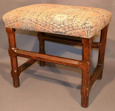 Walnut English baroque stool