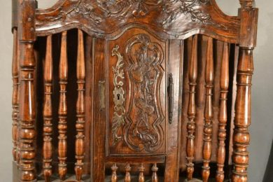 A French late 19th century fruitwood Panettiere