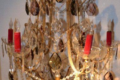 Italian birdcage chandelier