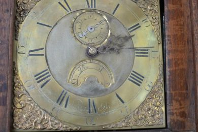 18th century oak provincial english clock face