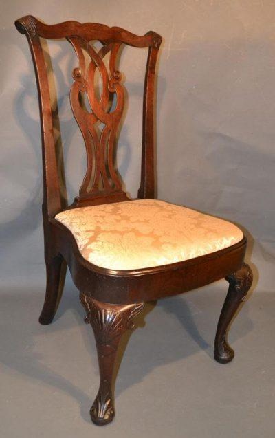 Early Georgian walnut side chair