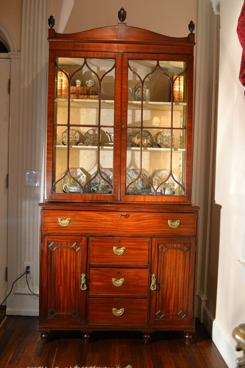 Lat george III bookcase cabinet