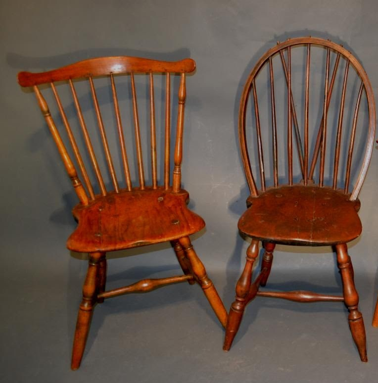 American 18th century windsor chairs