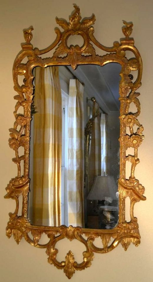 Early Georgian Chippendale mirror