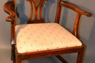 English George III or Chippendale type armchair