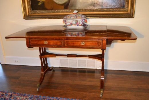 English Regency sofa table or library table