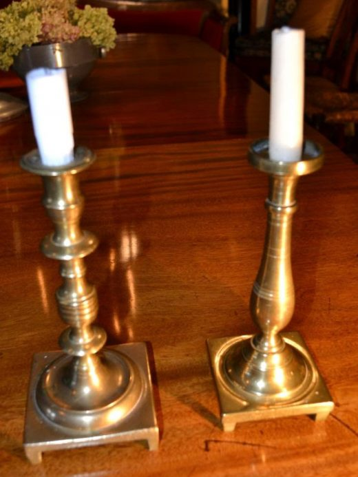 very heavy baroque candlesticks