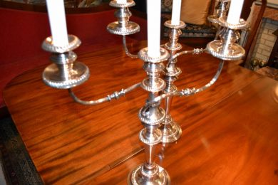 Pair of 19th century Sheffield candelabra