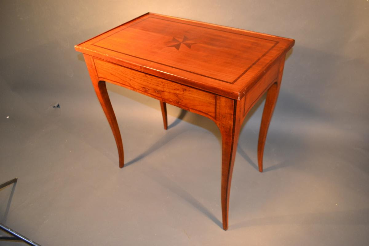 French Country Sophisticate Small Desk in Fruitwood