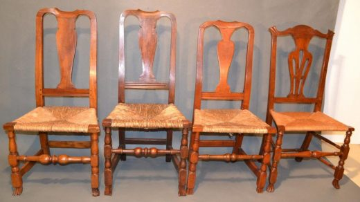 Smerican connecticut country queen anne chairs