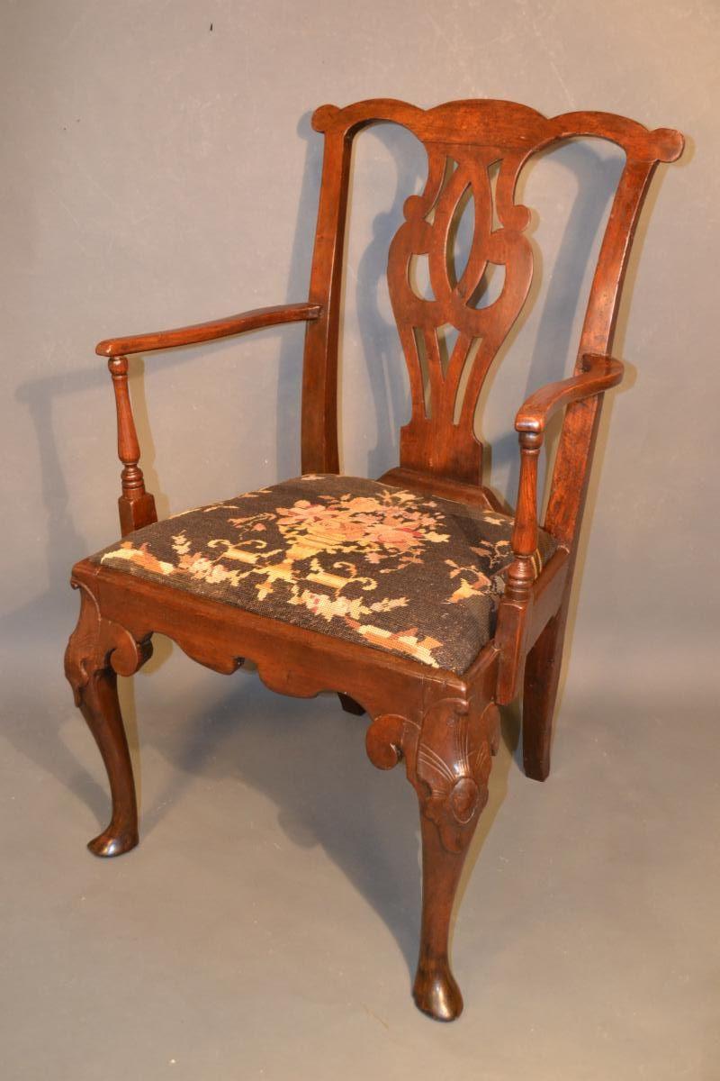 18th Century English Walnut Armchair