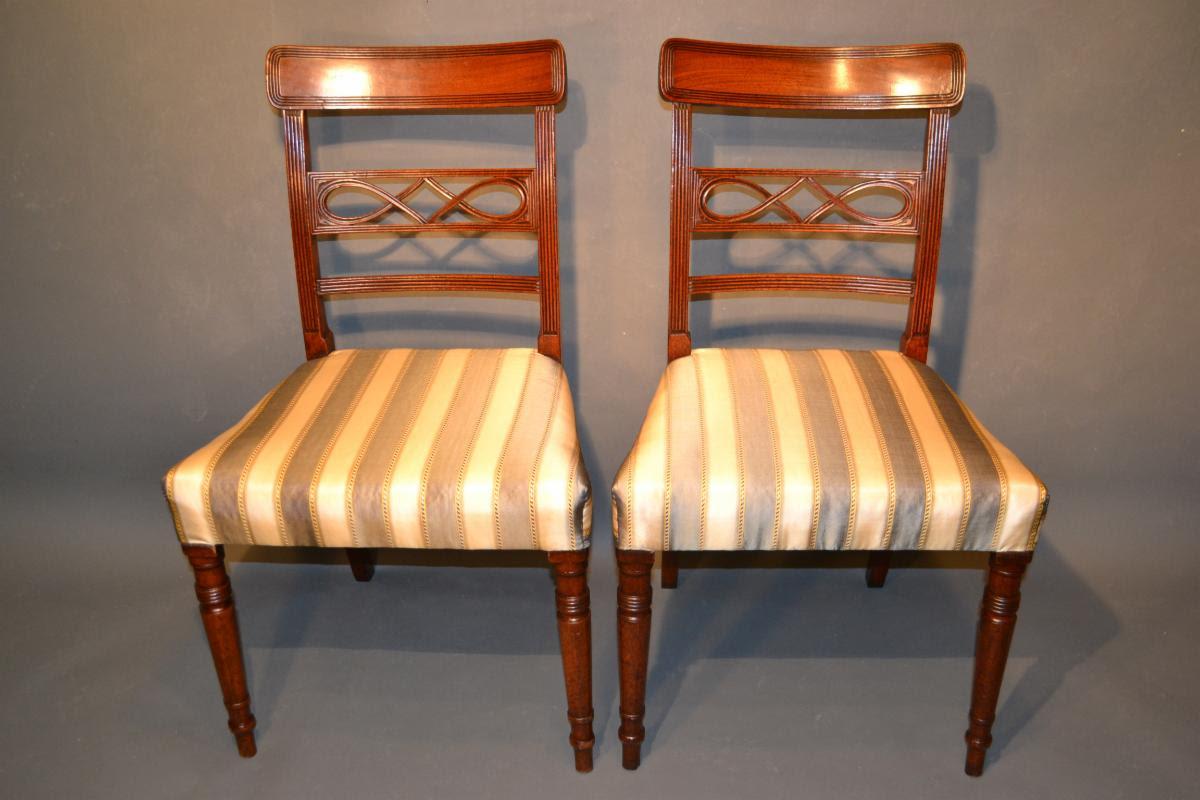 George III pair of side chairs