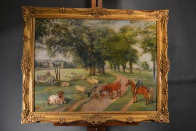 Oil on canvas attributed to E. F. Holt