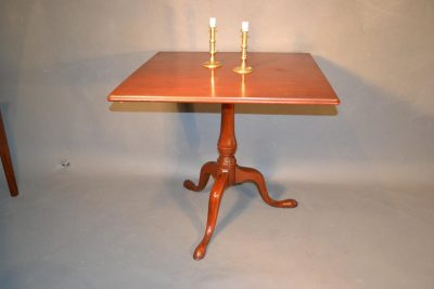 American tilt top table decorated