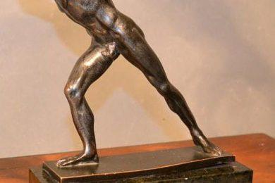 Gladiator bronze sculpture