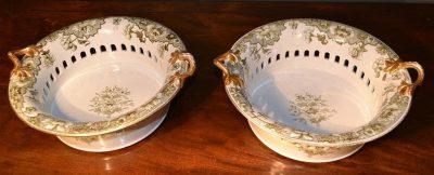 Reticulated fruit bowls of minton origin