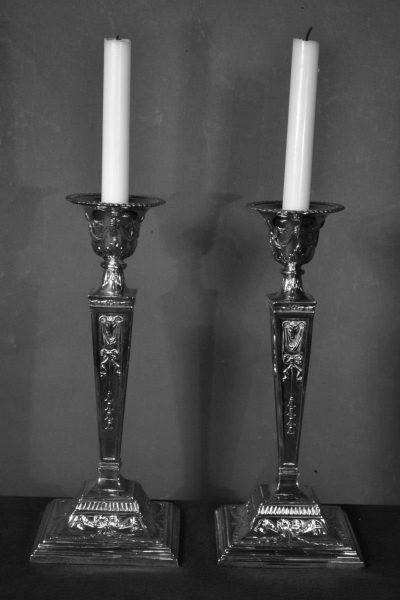 Sheffield candlesticks