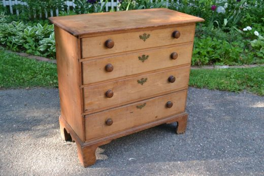 American country Chippendale four drawer chest