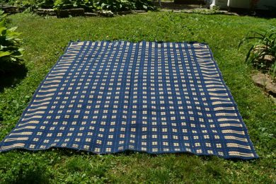 American double-weave coverlet