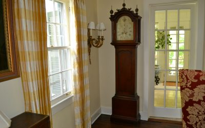Cherry New England Tall Case Clock by Abell Stowell