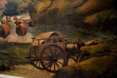 Italian countryside painting cart