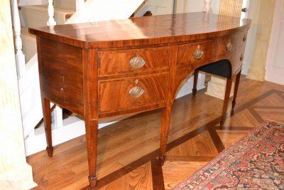 English hepplewhite mahogany sideboard