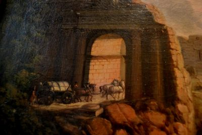 Italian countryside painting tunnel