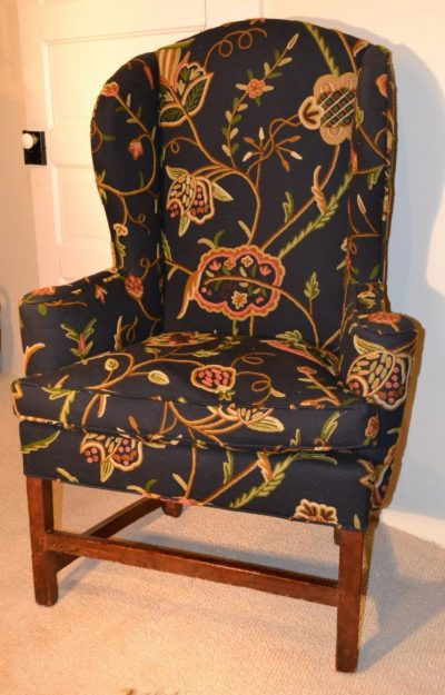 American country Chippendale type wing chair