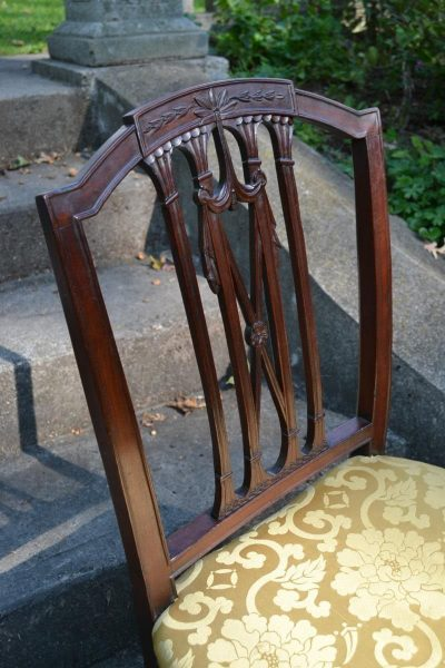 American dining chair detail