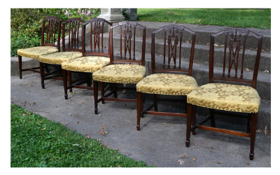 Superb Set of American Dining Chairs, Circa 1785