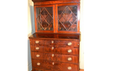 Salem, Massachusetts Secretary Bookcase Desk, Circa 1785-1805