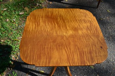 Tiger maple stand top
